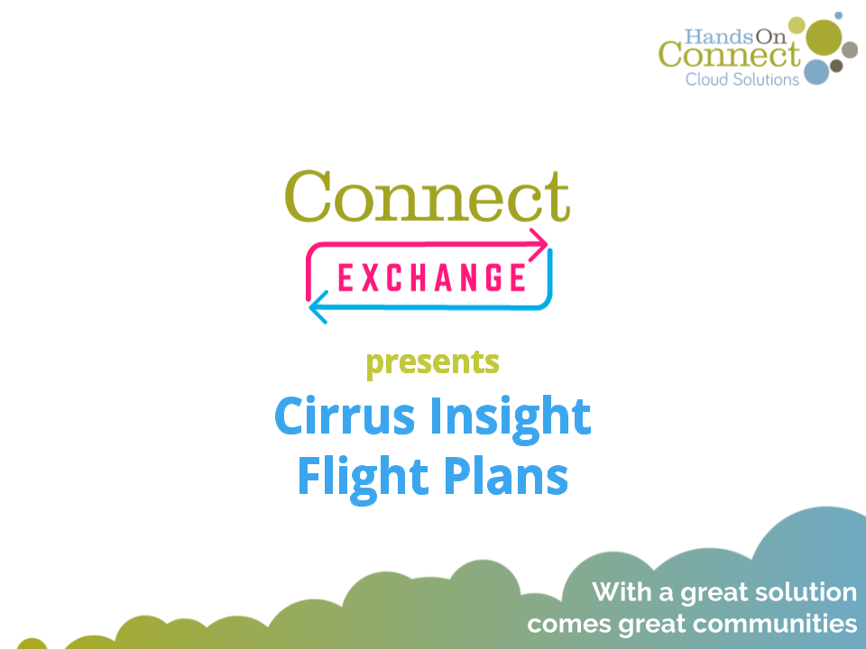 Connect Exchange: Cirrus Insight Flight Plans