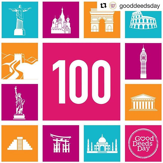 ⌛️48 hours for Good Deeds Day 2018! Proud to be part of it!  #Repost @gooddeedsday with @get_repost ・・・ #GoodDeedsDay happening in 100 countries!! Can you guess where in the world people will be doing good this Sunday?? #diadelasbuenasacciones #diadasboasacoes #doinggood #volunteering #service #china #newyork #haiti #brazil #japan #russia #ukraine #netherlands #belgium #unitedstates