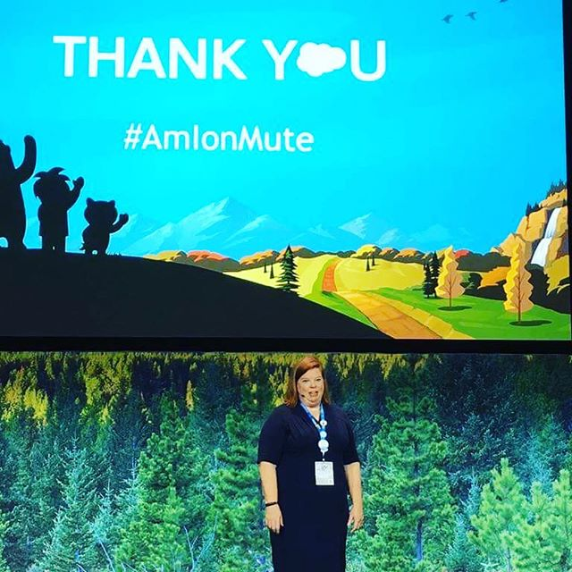 🙌🏼We are very proud of our VP Marketing & Sales @melissahilldees for doing good even better at Dreamforce '18 great job on that presentation! Teamwork makes the dream work! #salesforce #dreamforce #nonprofit #df2018