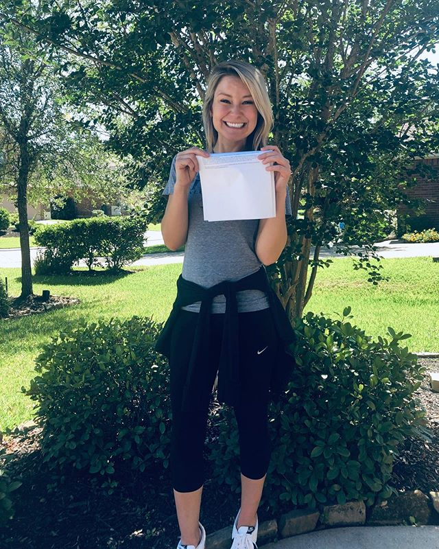 """Graduation is Thursday, but I went ahead and did a thing today.  I took boards and am happy to say I am now a Board Certified Family Nurse Practitioner.  If you zoom in really close you can see """"PASSED"""" is underlined 🤣. Still can't believe it."""