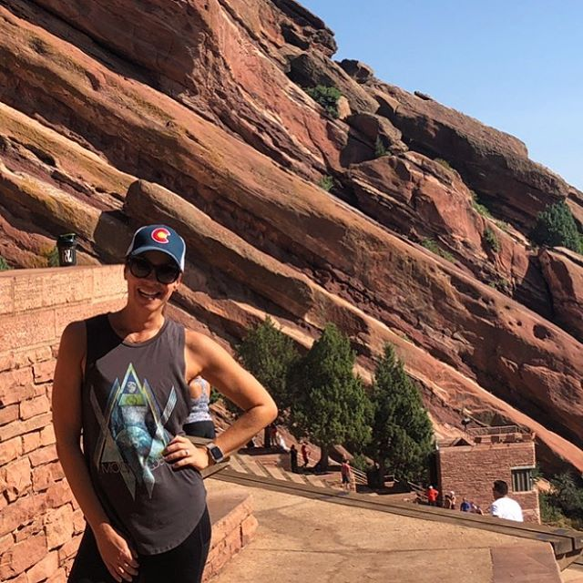 My younger self would be pretty disappointed that I'm exercising here instead of partying my face off. 🤷🏻‍♀️⛰ #redrocks #coloradical