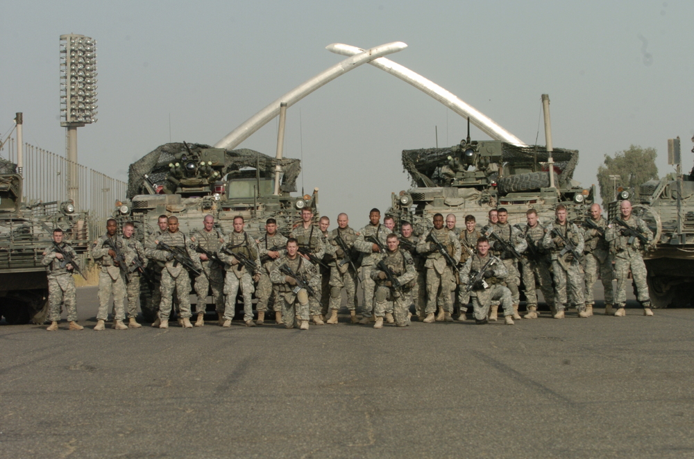 Baghdad, Iraq:  HQ Platoon, C Co. 5-20 IN, 3/2 Division