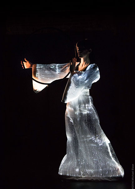 Vangeline in Butoh Beethoven- Eclipse- Photo Michael Blase