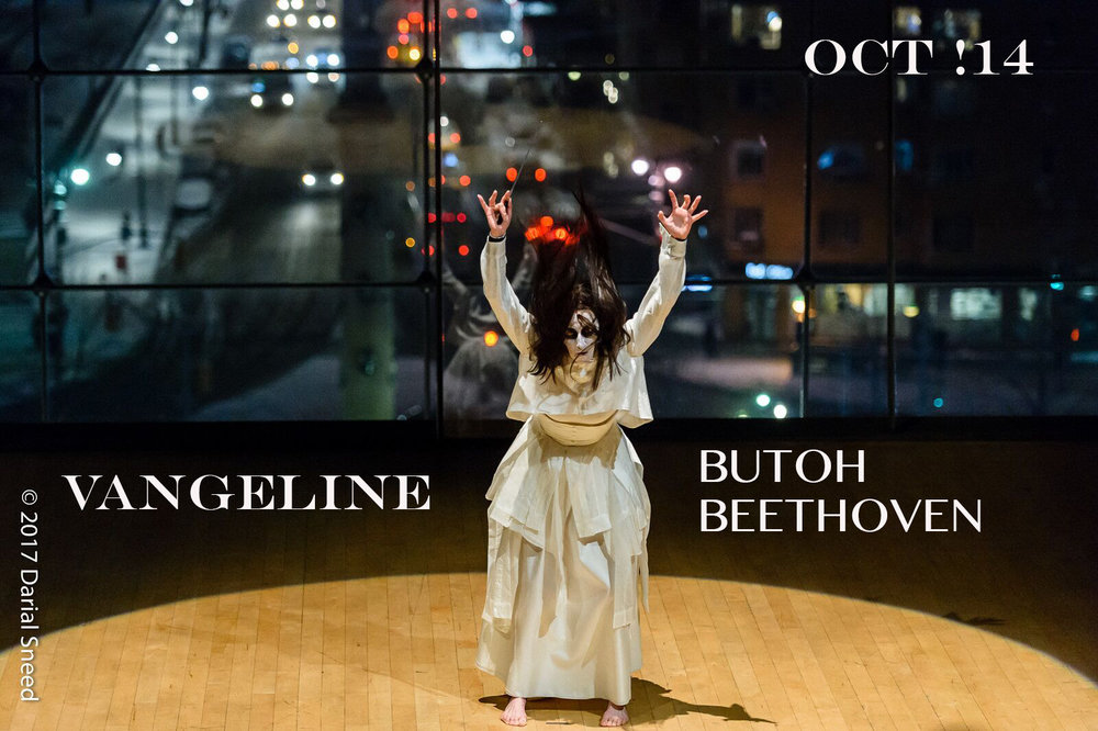 Vangeline in Butoh Beethoven at APAP, January 2017. Photo by Dariel Sneed