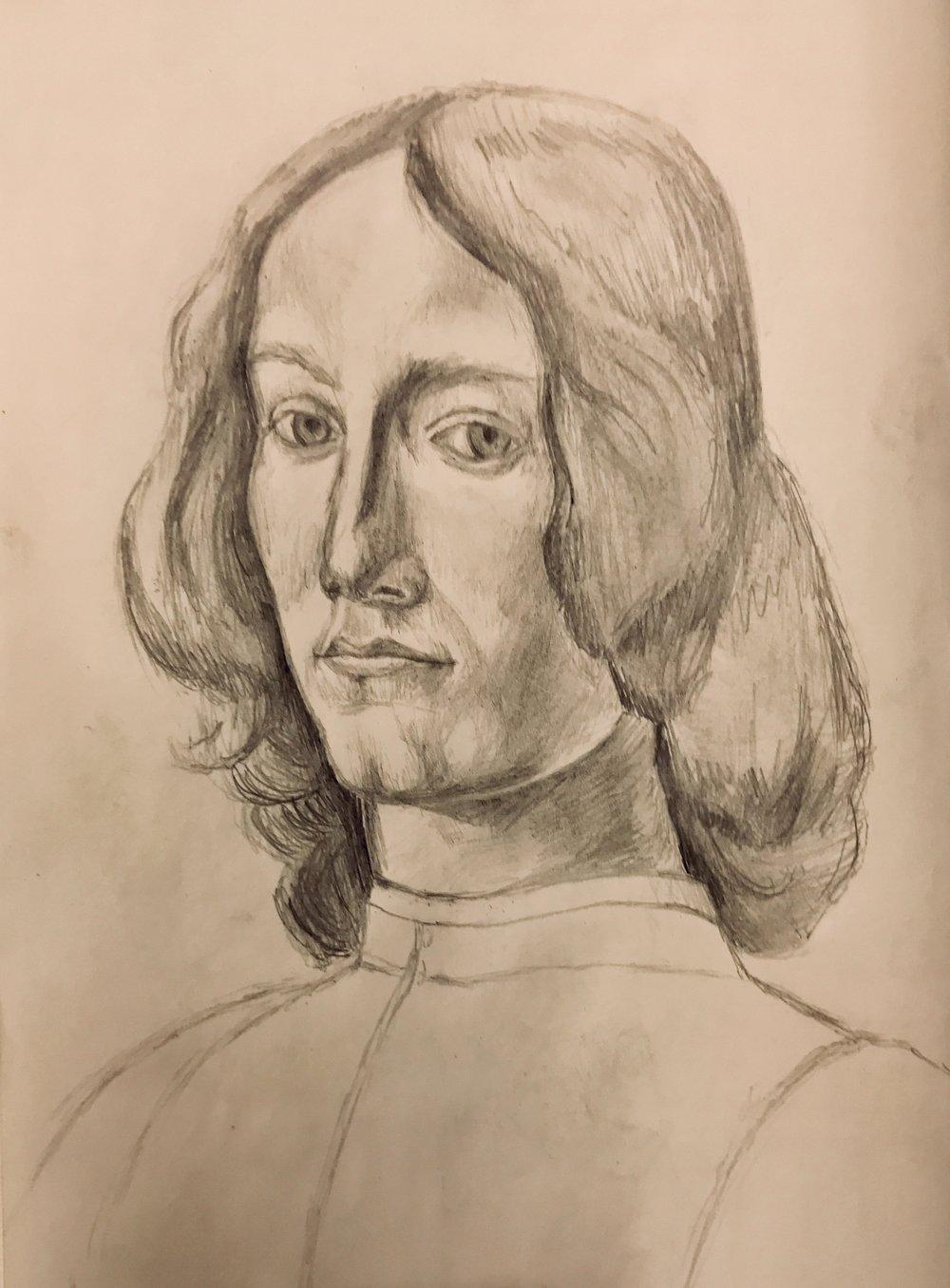 Botticelli Portrait of a Young Man