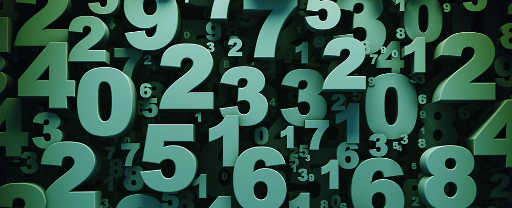 Numbers are involved in math and IT