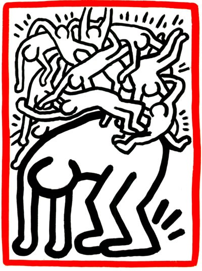 Image 2: Keith Haring – Fight AIDS Worldwide, 1990. Lithograph. Keith Haring Foundation, New York.