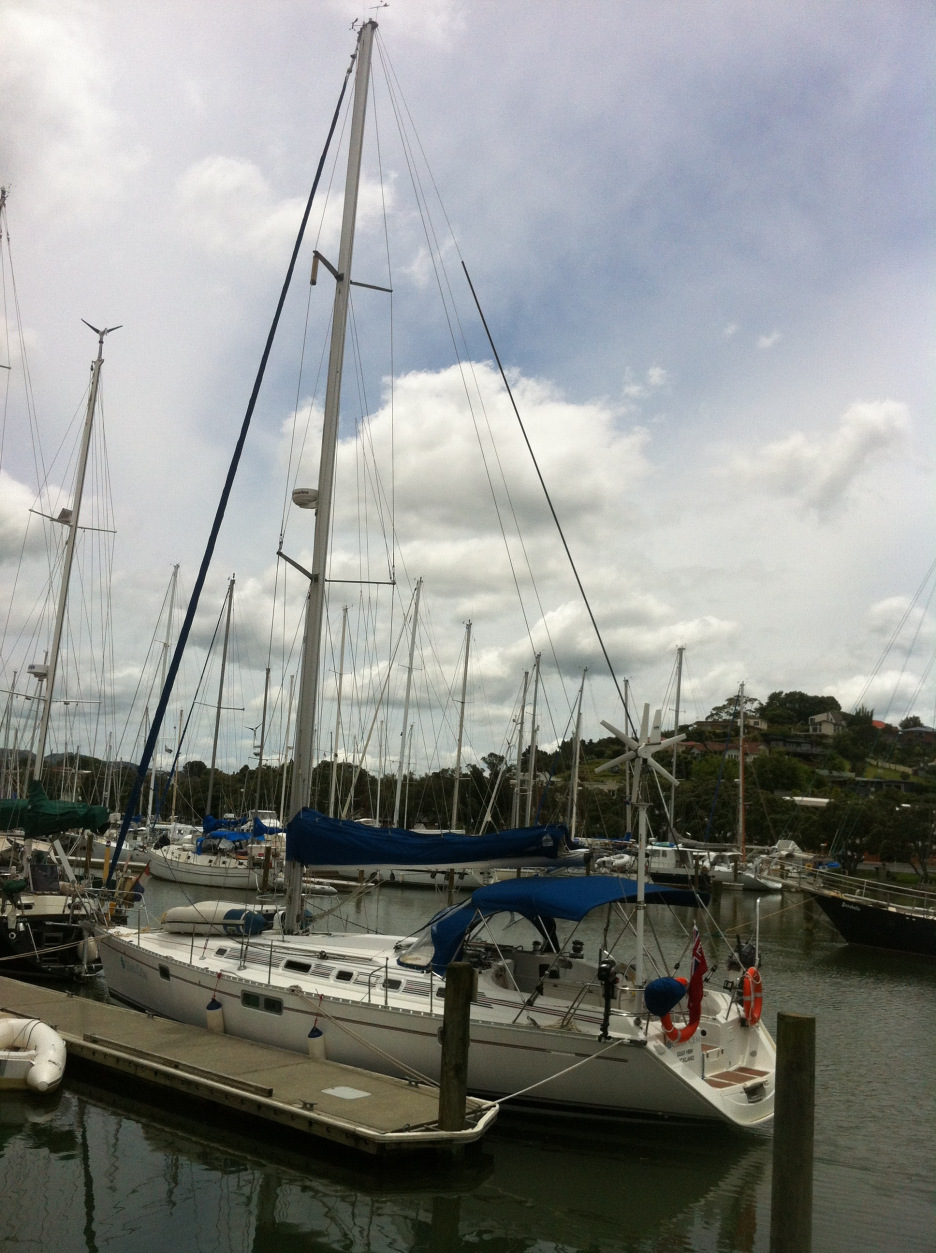 Ocean Gem berthed at Whangarei Town Basin in January 2012, just along from where the Nina was tied up