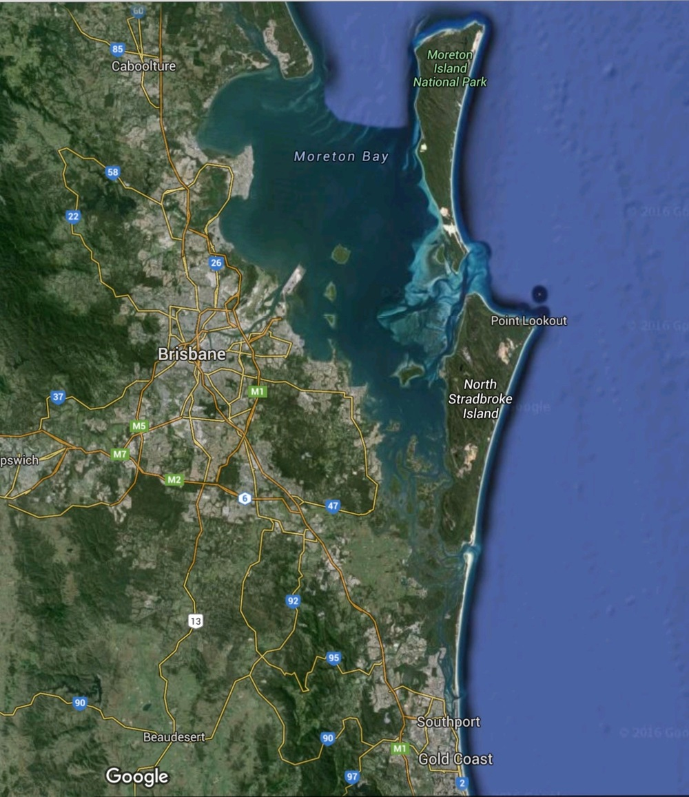 The race starts at Southport, heads north around the top of Moreton Island and finishes at Sandgate (North of Brisbane)