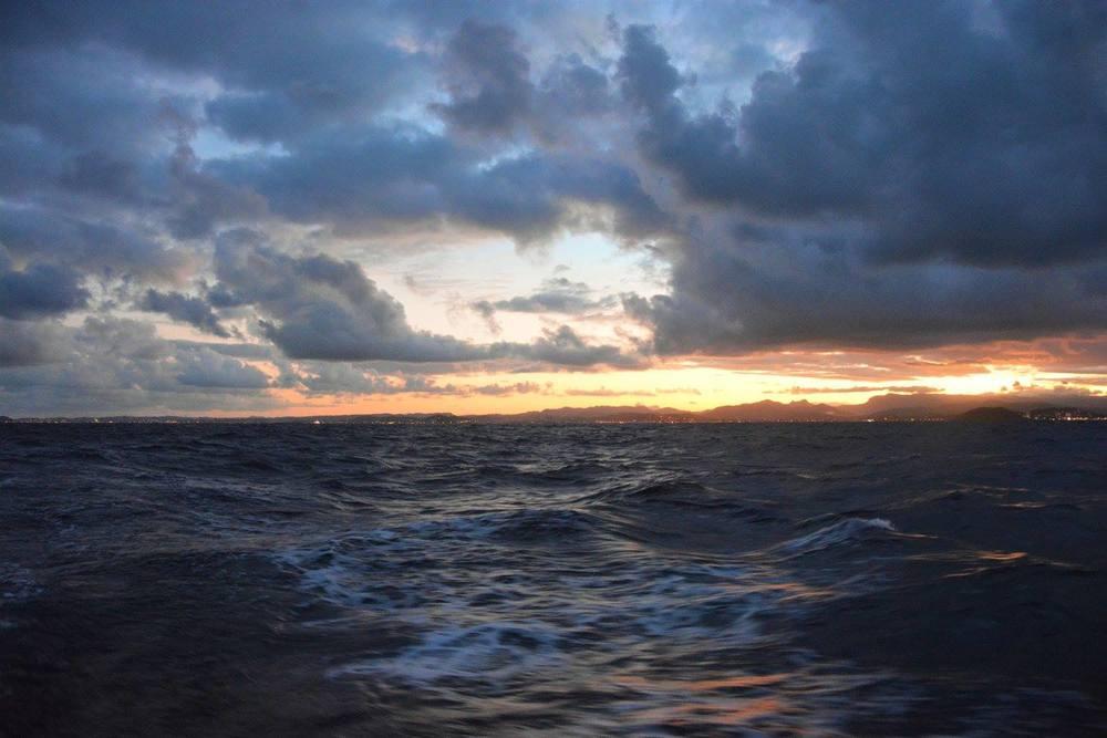 Sun setting over Tweed Heads
