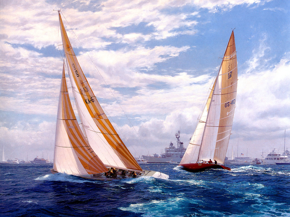 Australia II races Liberty in 1983, Newport Rhode Island for the Americas Cup