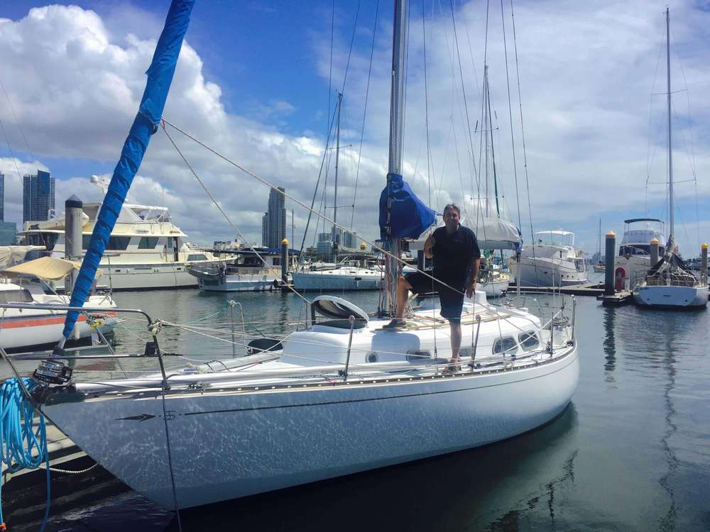 Andy Lamont on the S&S 34 'Impulse' at the Southport Yacht Club