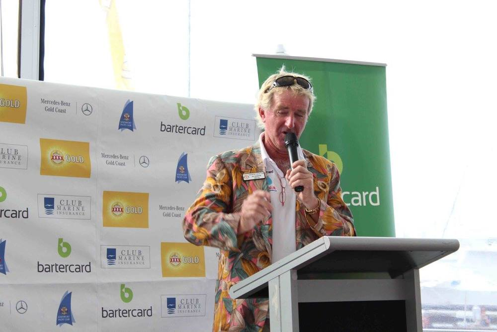Ray McMahon as MC at Sail Paradise 2016
