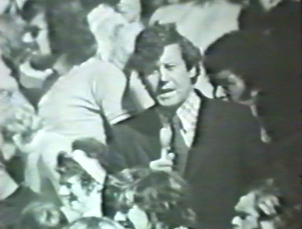 Peter Montgomery on television in 1973