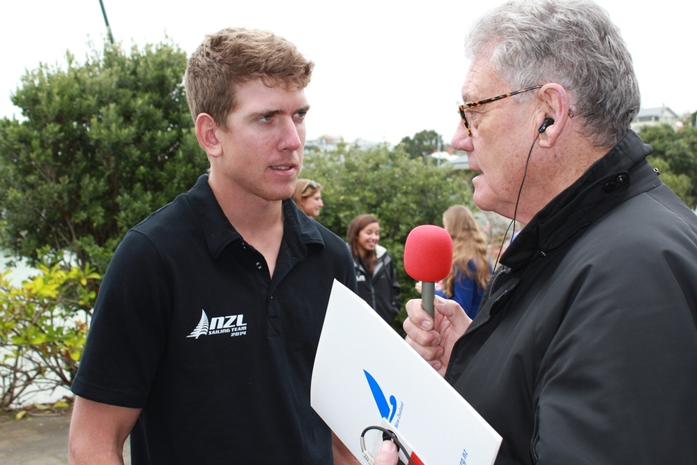Peter Montgomery talks with rising star Peter Burling