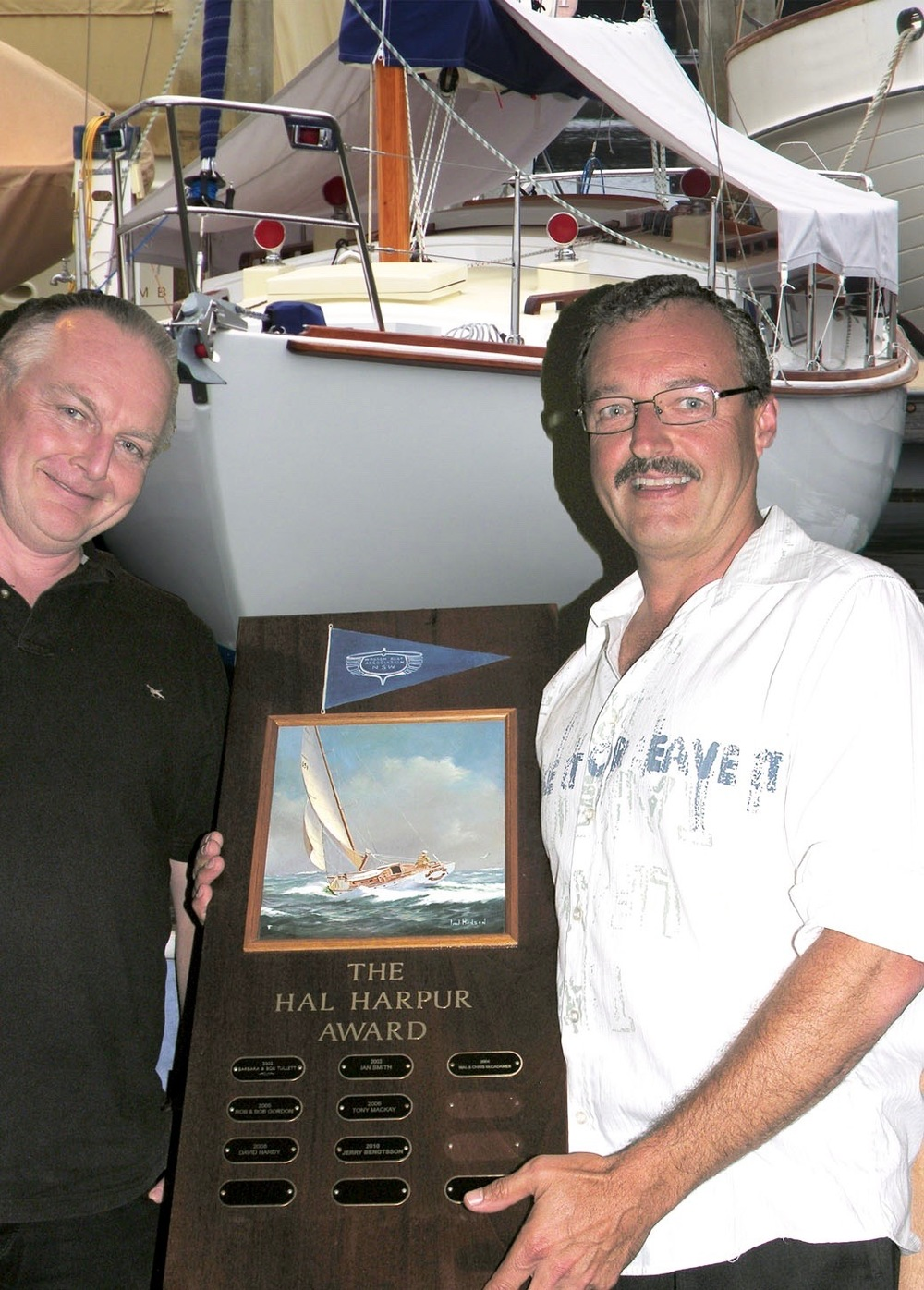 Andrew Randell receiving the Hal Harpur Award in 2011
