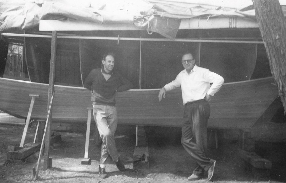 Fellow sailing friend; John Green with Andrews father in earlier years