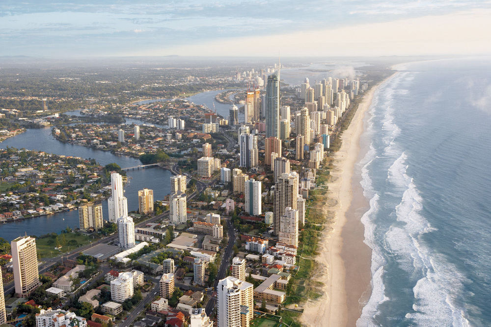 The Gold Coast provides a stunning backdrop, warm waters and year round sailing
