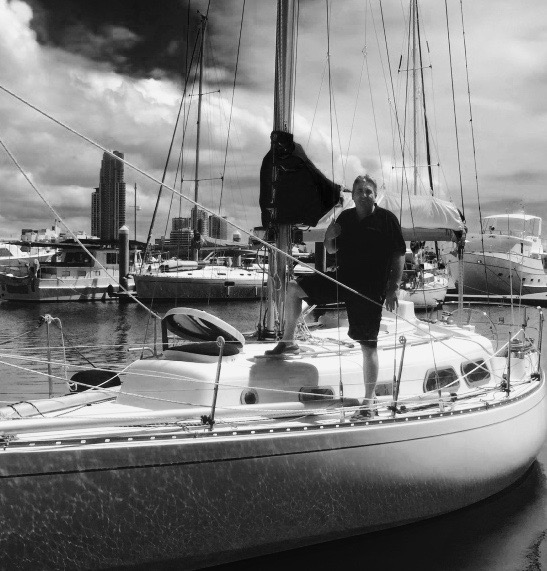 Andy Lamont on board Impulse at the Southport Yacht Club
