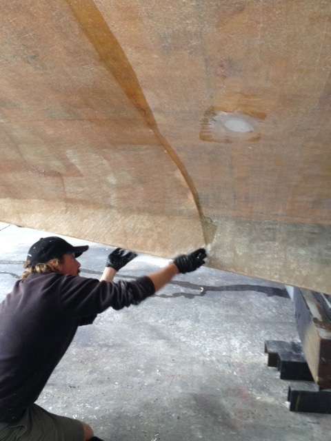 Treating osmosis after sand blasting the hull back to bare gel coat