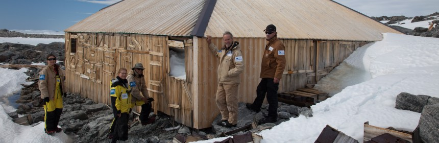 Rediscovering Mawson's Hut in Antartica after it was close up in 1913.  Photo: Reuters