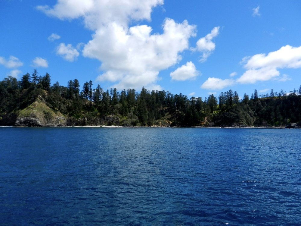Anchored at Norfolk Island 2013