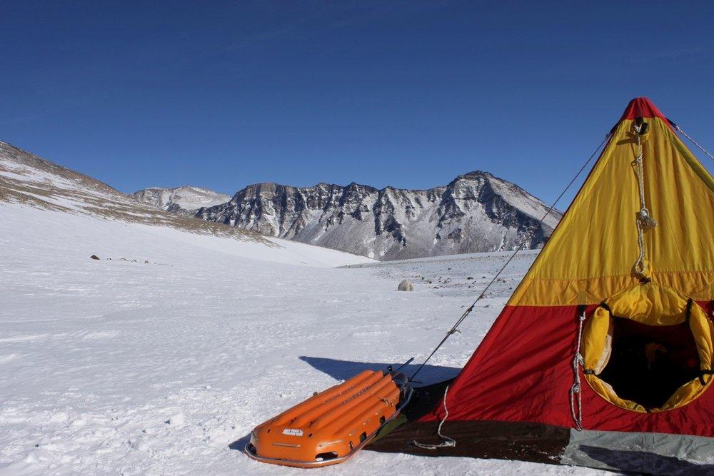 Sleeping tent at Mount Menzies, Prince Charles Mountains.jpg