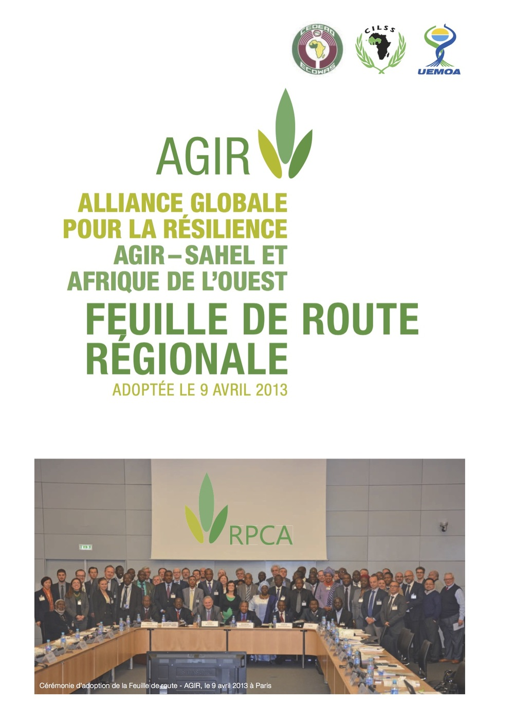 Global Alliance for Resilience Regional Roadmap - French.pdf
