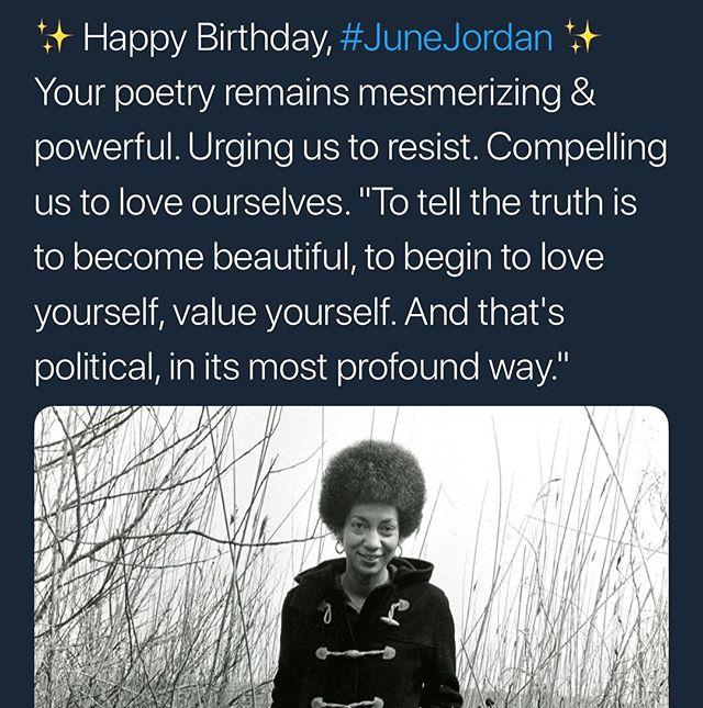 @wellreadblackgirl honoring our beloved #JuneJordan . #herstory #poetry #lgbt #fearless #sister #ancestors