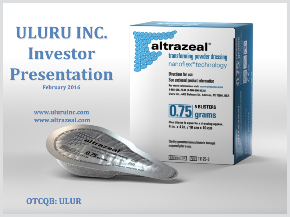 Uluru Investor Presentation