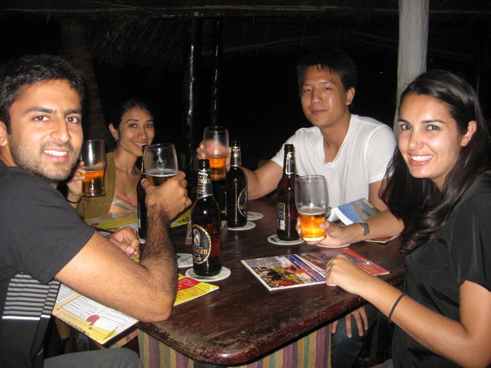 Dinner in Zanzibar