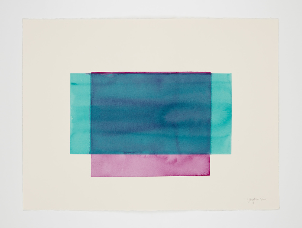 watercolour on deckle edged paper, 76x57cm     Photograph :Sun Lee