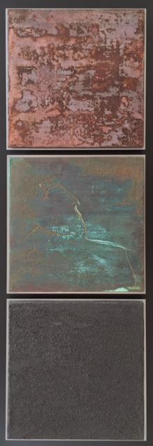 Three materials, 90 x 30 cm
