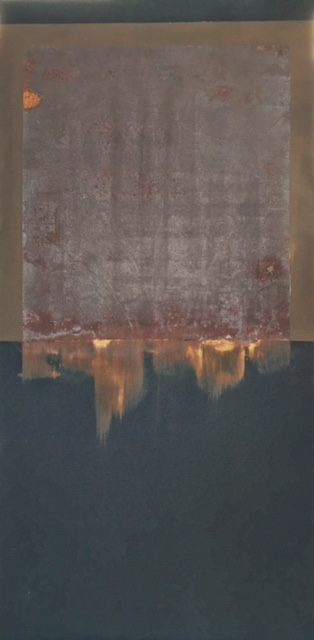 Mixed media on panel, 60 x 120 cm