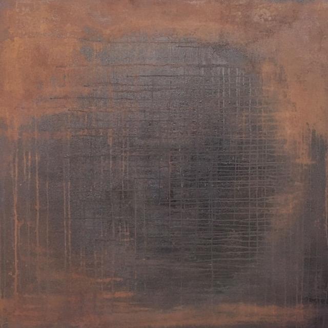 Mixed media on panel, 120 x 120 cm