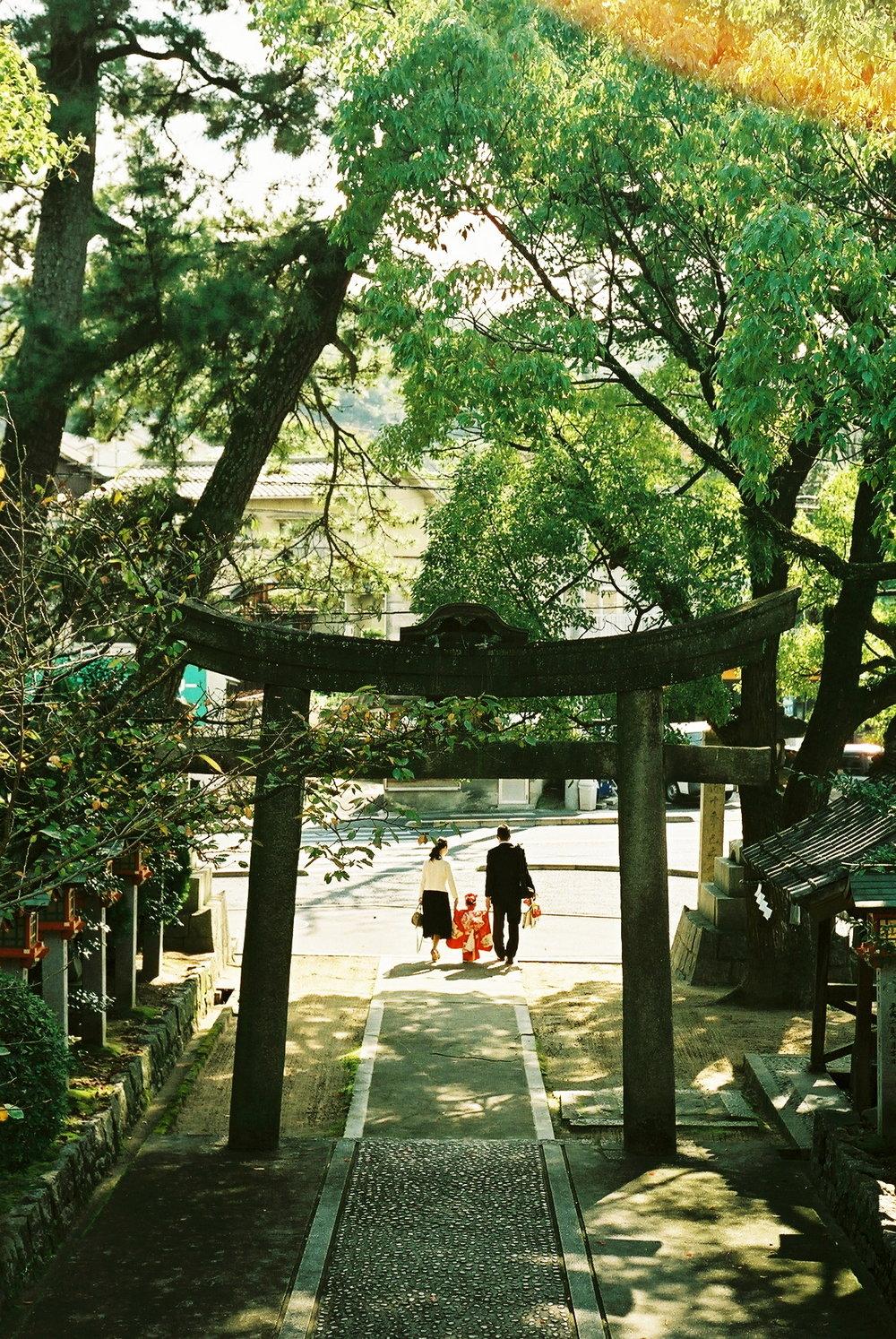 尾道市向島の神社での七五三撮影