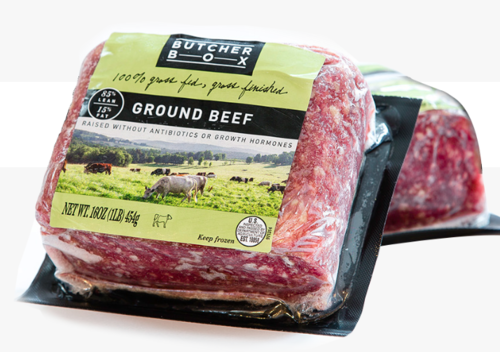 Package - grass fed beef from Butcher Box - from Australia