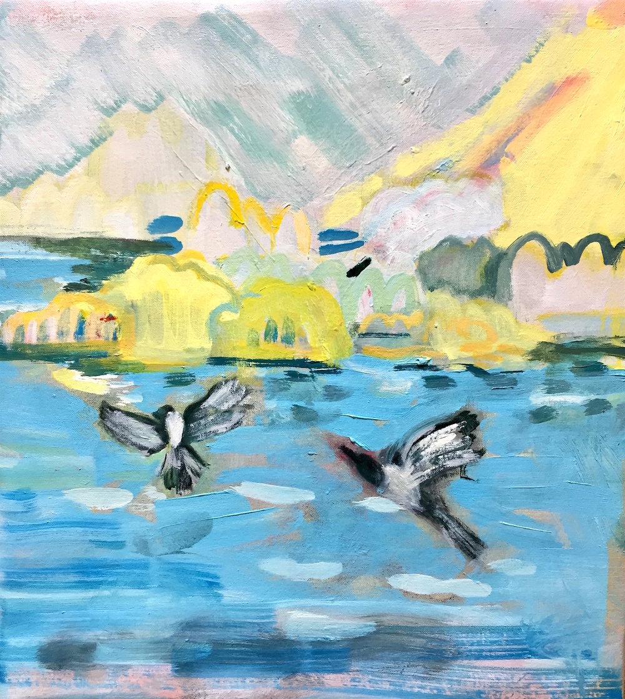 Softly Softly Oil on Canvas 40 x 46cm