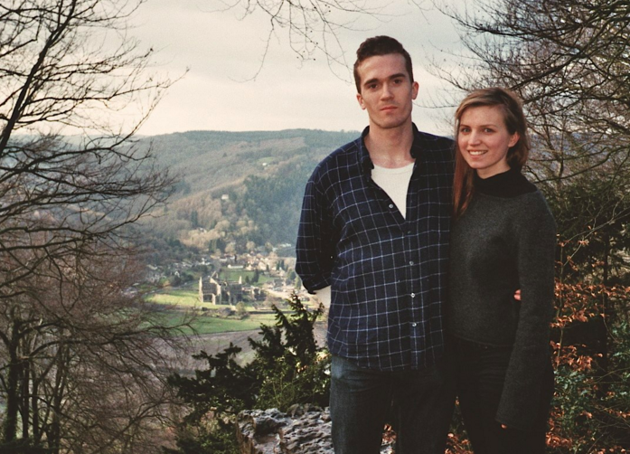 Harry and his wife Natasha, here in Wales, moved from London to Sweden in 2016