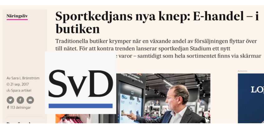 Svenska Dagbladet, one of Sweden's largest nationals