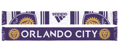 Orlando City SC adidas White/Purple Jersey Hook Jacquard Scarf - $24.99