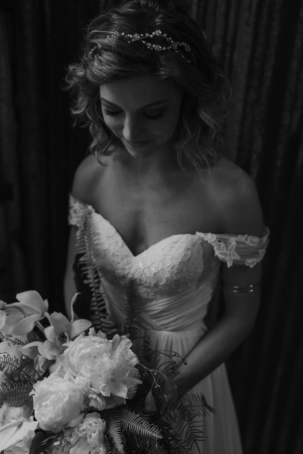 How dreamy is her dress from Fabulous Frocks of Shreveport. And that arm cuff. so perfect.