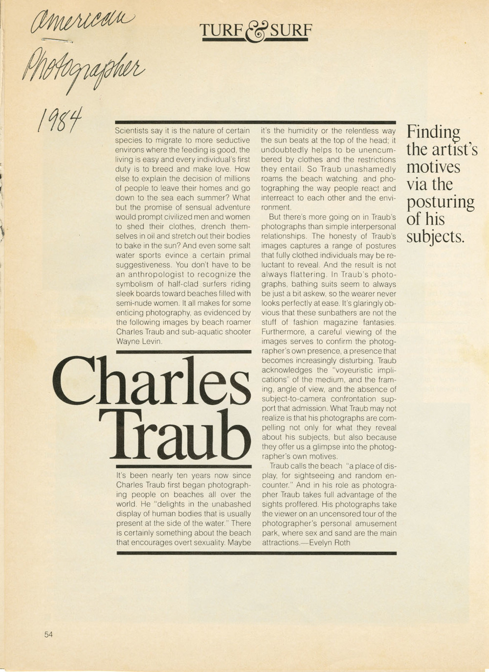American Photographer - Article about Charles work - 1984 001.jpg