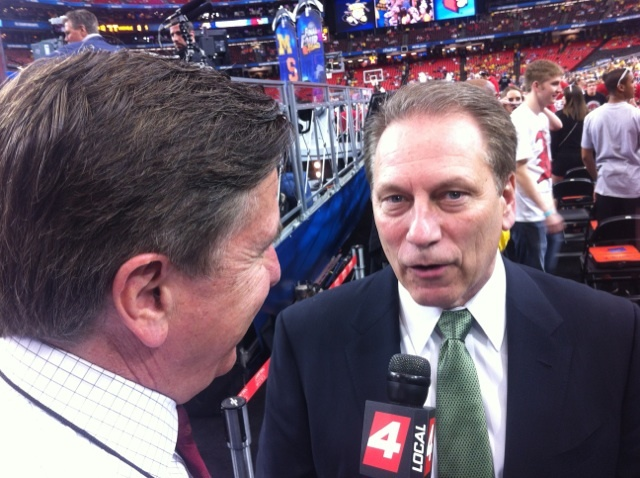Bernie with Michigan State Basketball Coach Tom Izzo