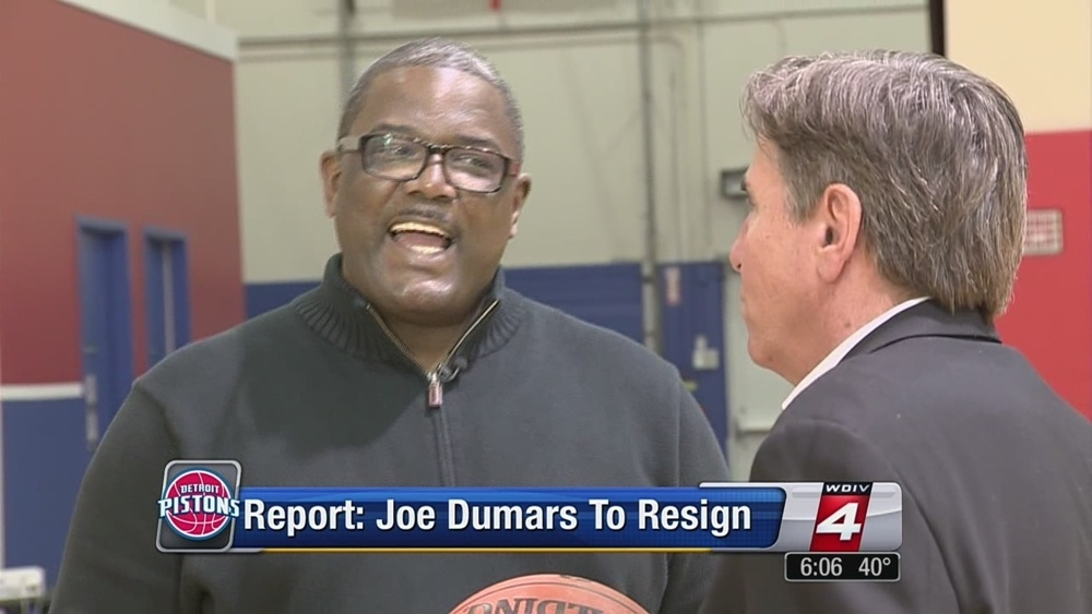 Bernie with Joe Dumars of the Detroit Pistons