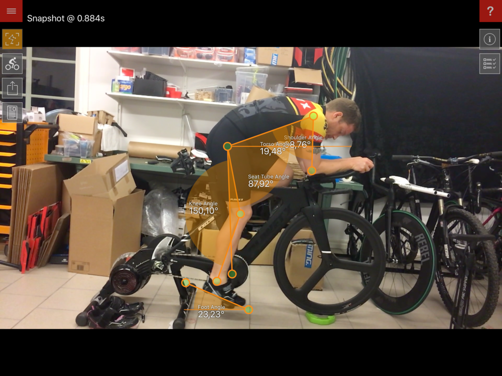 Morgan Pätsi, fastest biker at IM Kalmar 2016 getting tuned up on his new machine!