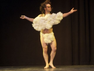 Paul as a fluffy white cloud, 2011