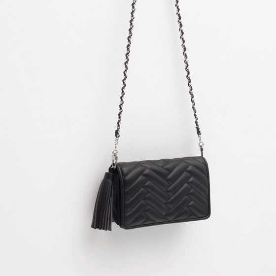 3145eeb42df3 Jimmy Choo raven leather shoulder bag £995.00