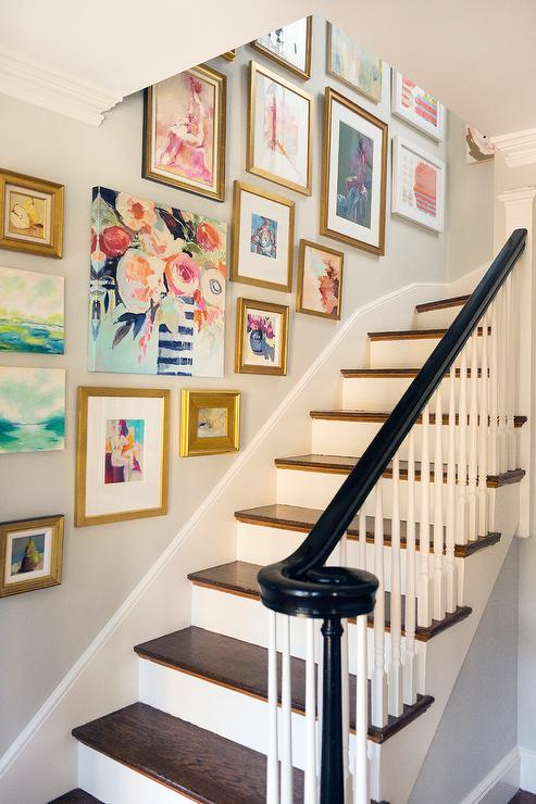 This gallery by  Mandarina Interior Design Studio  is another interesting way to add color to your space!