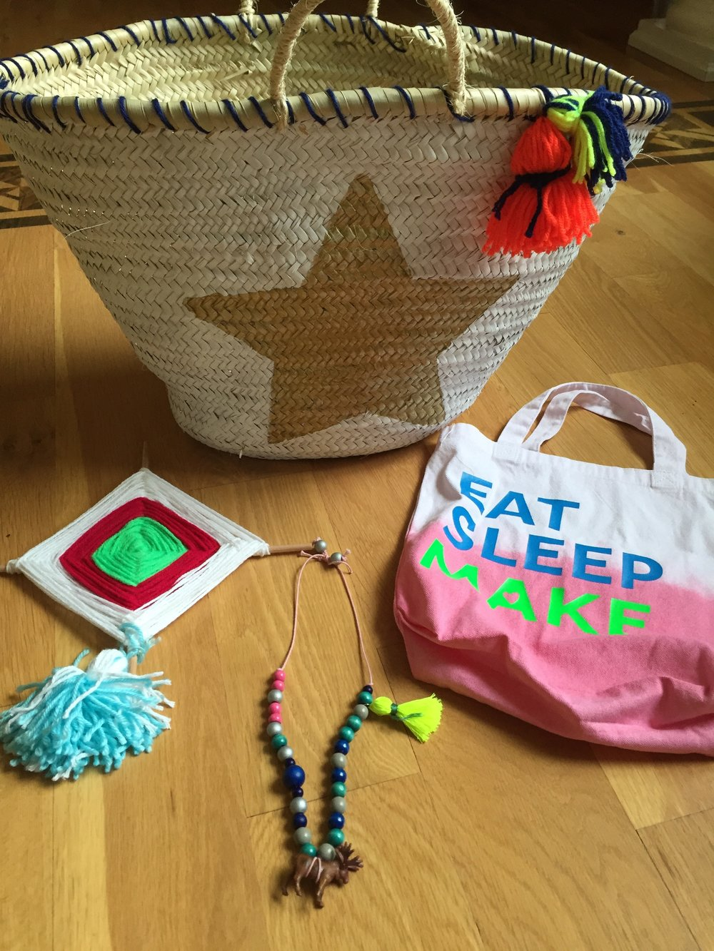 Liliana's projects from Bridget Lamb's Make Craft Camp.jpg